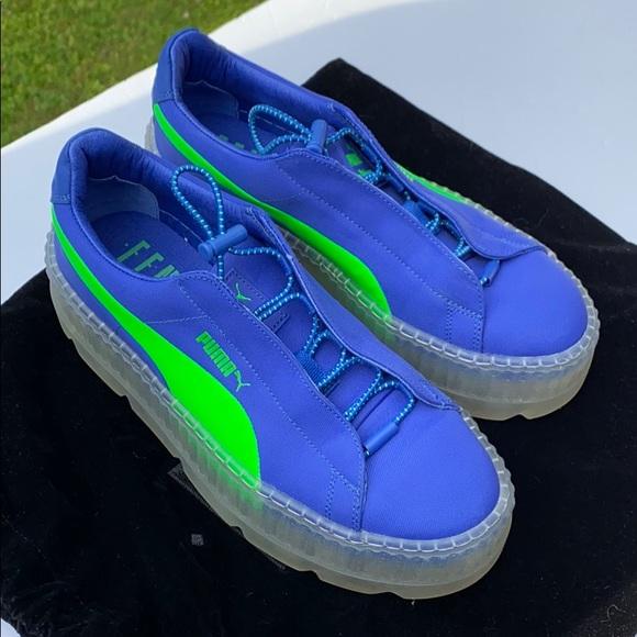 puma shoes rihanna blue